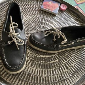 Sebago boat shoes leather size 8 good condition